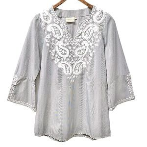 Rungolee Anthropologie Paisley Embroidered Tunic